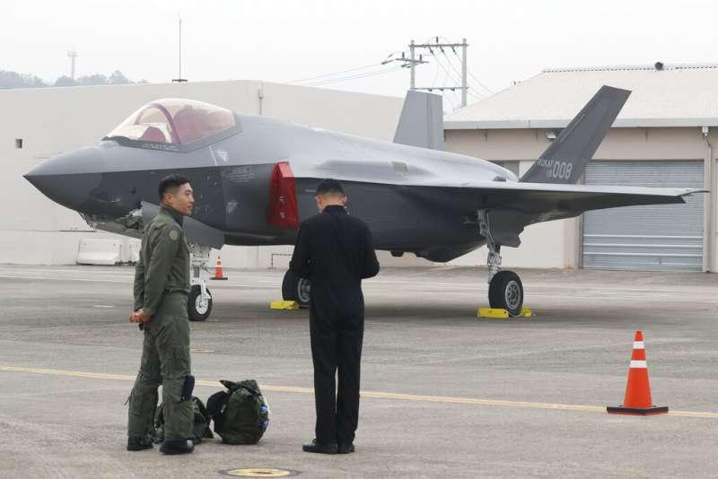 南韓的F-35戰機。(美聯社)