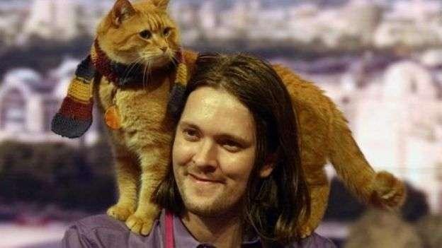 街貓鮑勃。(BBC中文網)