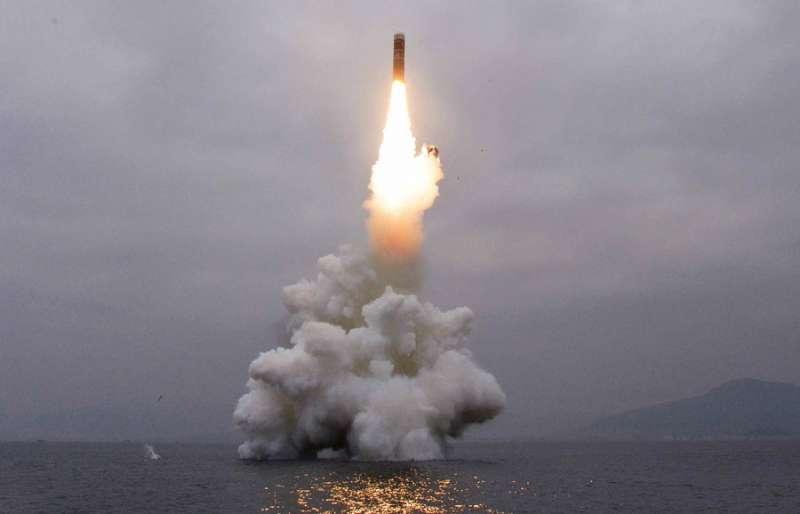 北極星3型潛射彈道飛彈。(勞動新聞)