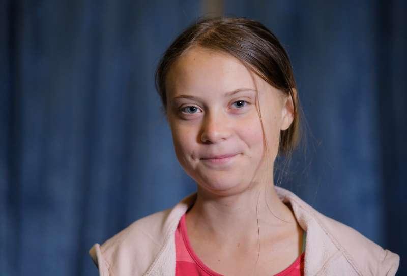 16歲少女、瑞典環保運動人士通貝里(Greta Thunberg),在全球掀起關注氣候變遷的罷課運動。(AP)