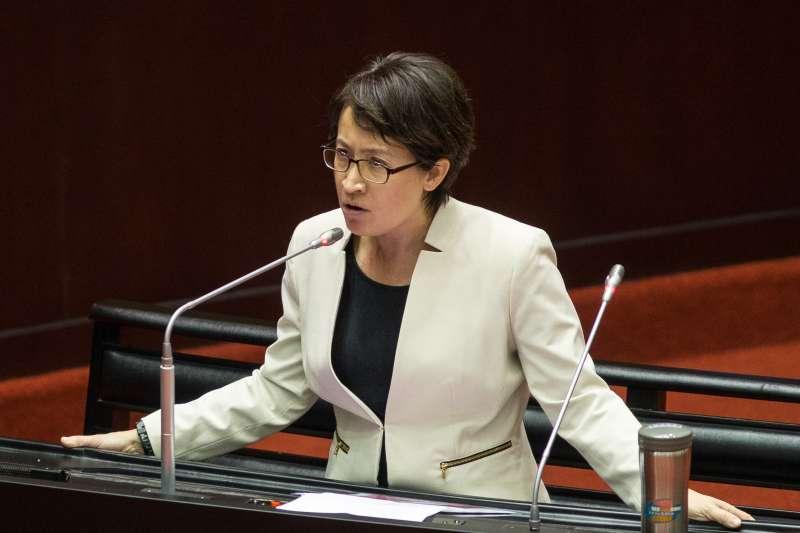 20191004-民進黨立委蕭美琴4日於立院質詢。(顏麟宇攝)