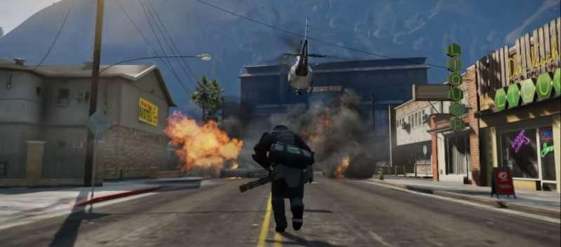 《俠盜獵車手V》遊戲畫面。(圖片擷取自Youtube)