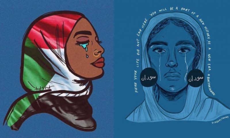 Twitter跟Instagram的大頭貼都換成藍色以紀念在63大屠殺中被殺死的男孩及示威者。(圖/Mashable India)