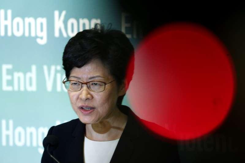 2019年10月,香港特首林鄭月娥深陷危機(AP)