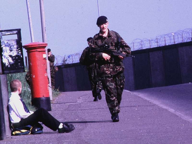 英軍在貝爾法斯特,造成聯合王國和北愛爾蘭難以和解的傷害。(林瑞慶攝)