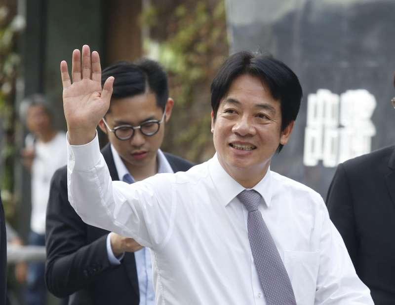 前行政院長賴清德10月14日將代表蔡英文赴美與僑界對話。(郭晉瑋攝)