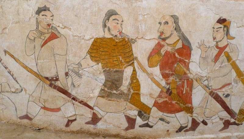 鮮卑族壁畫(取自維基百科)。