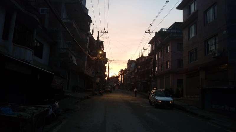 晨跑迎接日出。(圖/作者提供)