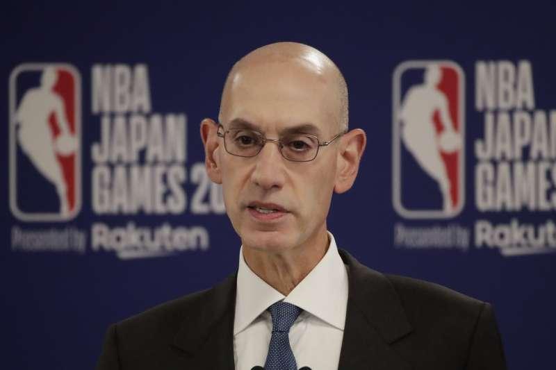 NBA總裁西弗爾(Adam Silver)稱聯盟不會為了錢管制員工言論,引發中國不滿。(AP)