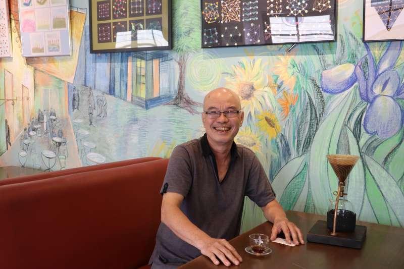 越南異議樂人厄戴(Ngoc Dai)接受《風傳媒》專訪。(蔡娪嫣攝)
