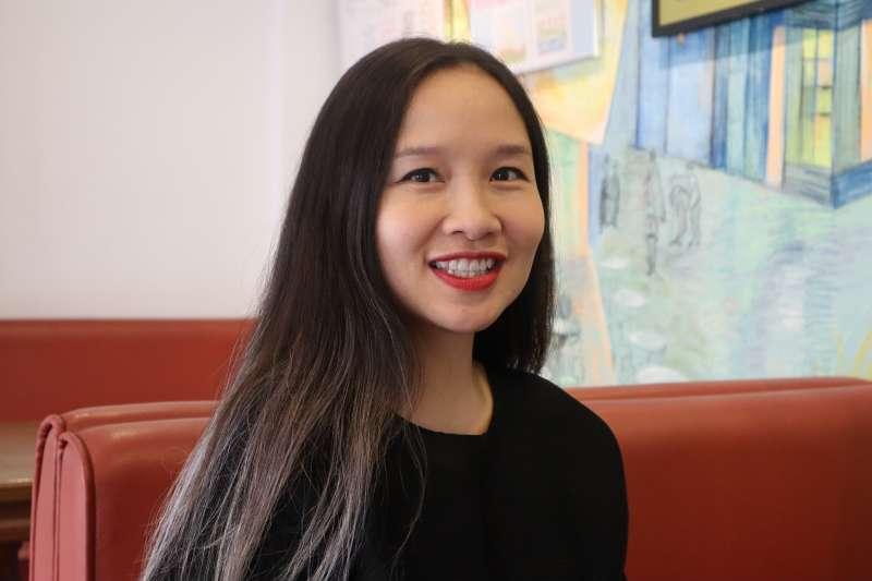 越南異議樂人杜阮玫瑰(Mai Khôi)接受《風傳媒》專訪。(蔡娪嫣攝)