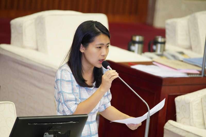 20191009-台北市議員徐巧芯質詢。(盧逸峰攝)