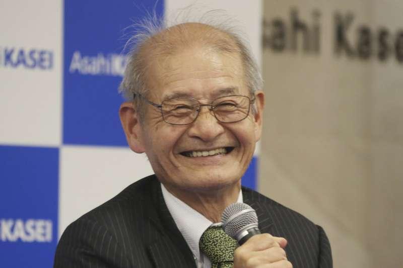 2019年諾貝爾化學獎得主之一,吉野彰,以發明鋰離子電池的貢獻獲獎。(AP)