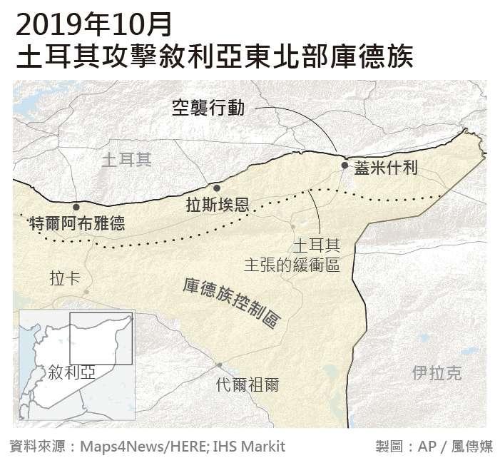 20191010-SMG0035-國際圖表_2019年10月-土耳其攻擊敘利亞東北部庫德族