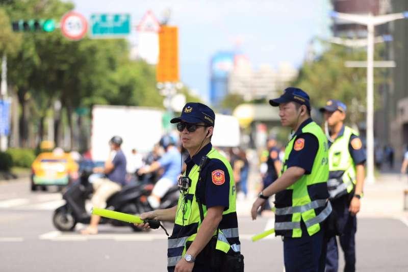 20191010-108年國慶今天登場,台北市警察局全員出動負責維安。(台北市警察局提供)