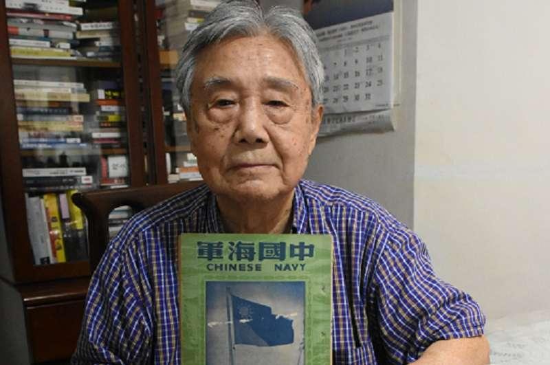 曾經在重慶號巡洋艦上服務過的仉家彪老先生。(作者提供)