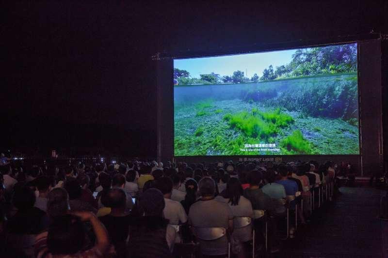 「映像日月潭《水起.台灣》壯觀同框」公益放映會採用當今最高畫質的投影技術,是全球規模最大的8K戶外投影放映會(圖 / 台達Delta粉絲團)