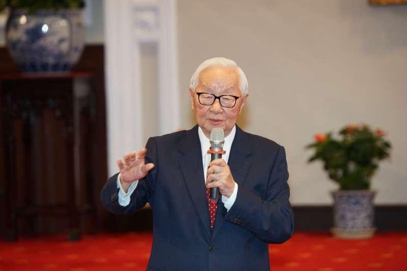 20191014-總統府召開記者會宣布APEC領袖代表,台積電董事長張忠謀出席。(盧逸峰攝)