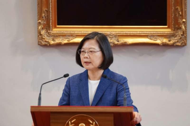 20191014-總統府召開記者會宣布APEC領袖代表,總統蔡英文出席。(盧逸峰攝)