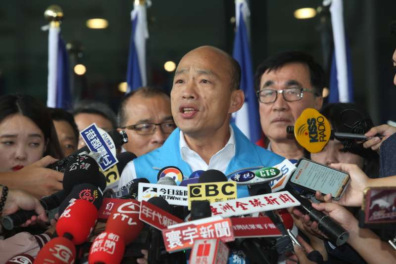 韓國瑜強調,去參選總統,並不是放棄對高雄的承諾,而是要把高雄的溫暖希望和勇氣,這種團結奮鬥的精神,帶到全台灣。(圖/徐炳文攝)