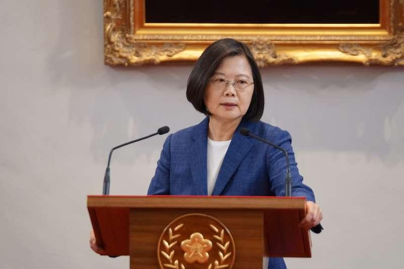 20191014-總統府召開記者會,總統蔡英文出席。(盧逸峰攝)