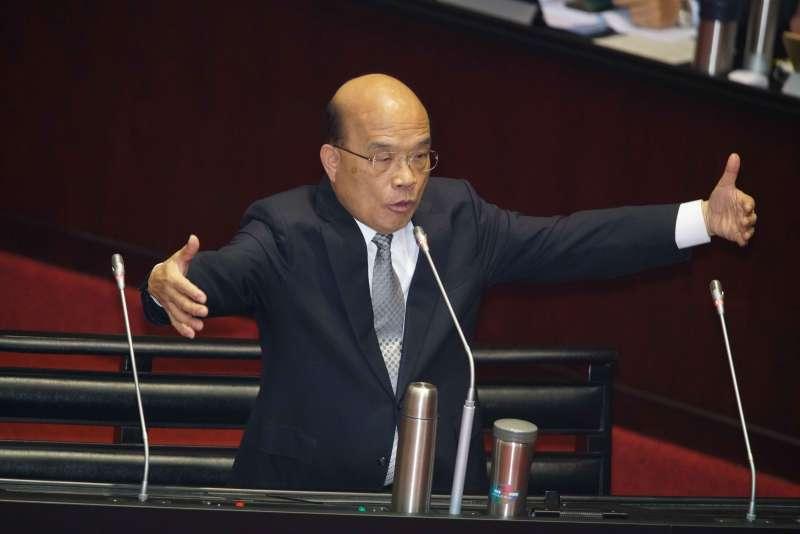 20191015-行政院長蘇貞昌赴立法院備詢。(盧逸峰攝)