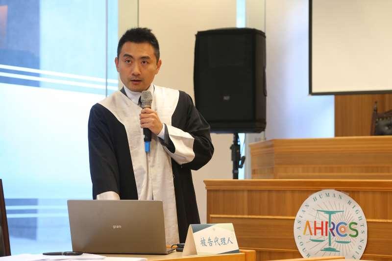 20191017-模擬亞洲人權法院17日針對邱和順告政府案進行宣判,國家方代理律師團李宣毅於記者會發言。(顏麟宇攝)