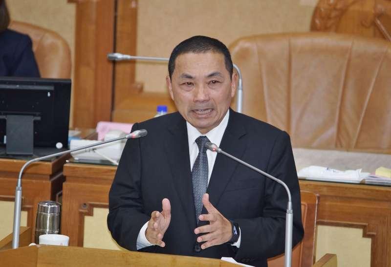 20191018-新北ˋ市長侯友宜於18日赴市議會進行施政報告。(盧逸峰攝)