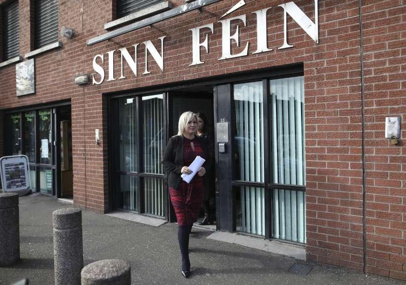 北愛爾蘭「新芬黨」。北愛爾蘭與愛爾蘭邊界,是英國與歐盟版遲遲無法達成退出協議的關鍵問題。(AP)