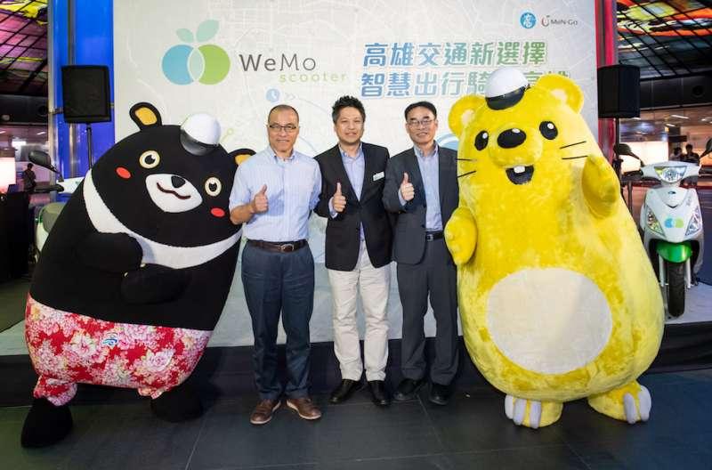 副市長葉匡時(左起) 、威摩執行長、交通局長每段落要冠名,太商業化的段落拿掉。(圖/徐炳文攝)