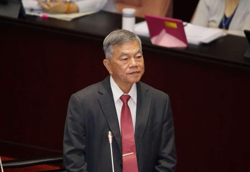 20191018-經濟部長沈榮津18日出席立院院會備詢。(盧逸峰攝)