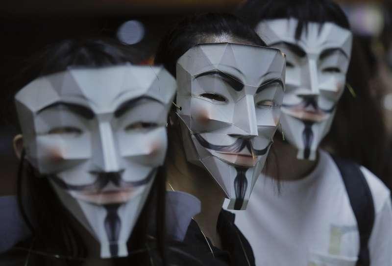 2019年香港反送中運動,示威者面罩成為焦點(AP)