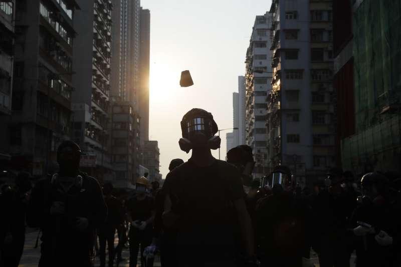 2019年10月20日,香港反送中運動示威再起(AP)