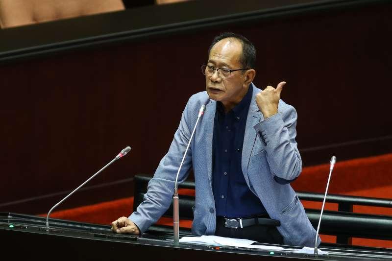 20191022-國民黨立委陳超明22日於立院質詢。(顏麟宇攝)