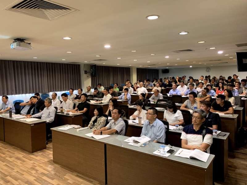 抗菌不銹鋼研討會產學研出席人數相當踴躍。(圖/徐炳文攝)