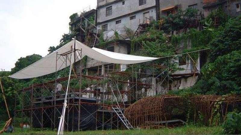 2004, 寶藏巖貝都因式帳篷設計(資料照,謝英俊)