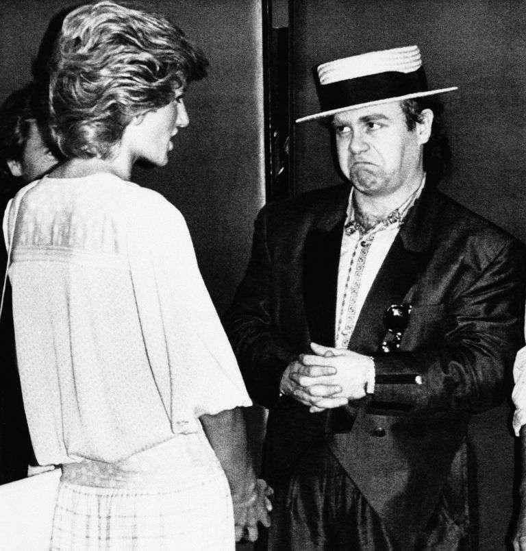 英國黛安娜王妃生前與傳奇歌手艾爾頓強是知心好友。(AP)