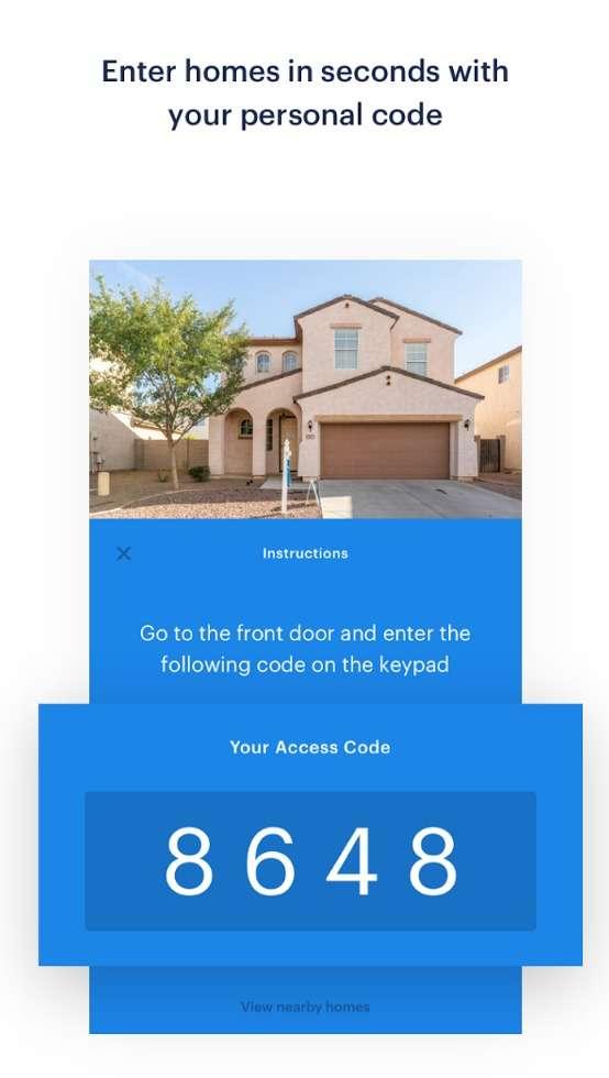 靠手機app的一組密碼,想隨時看屋就看屋(圖/Techcrunch)