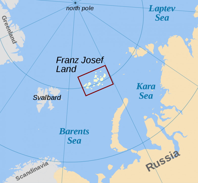 俄羅斯法蘭士約瑟夫群島(Franz Josef Land)(Wikipedia / Public Domain)
