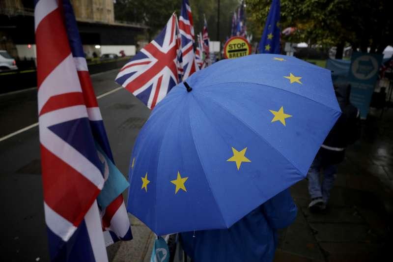英國離開歐盟保護傘,英國脫歐。(AP)