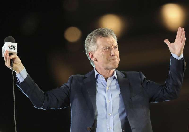 阿根廷現任總統馬克里(Mauricio Macri)試圖在第二輪總統選舉扳回劣勢。(AP)