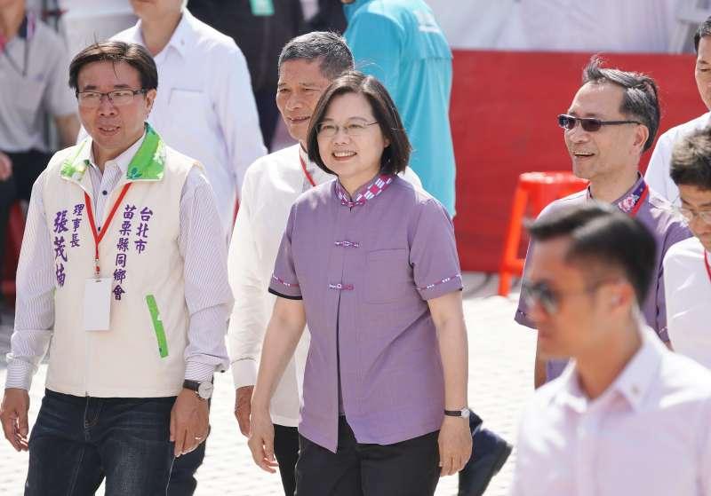20191027-總統蔡英文27日出席台北客家義民嘉年華。(盧逸峰攝)