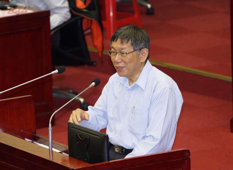 20191029-台北市長柯文哲29日出席市政總質詢。(盧逸峰攝)