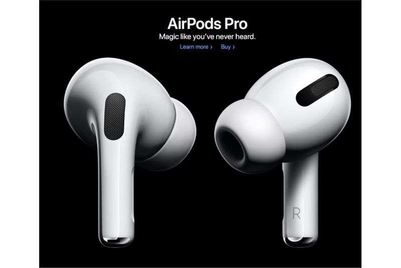 蘋果AirPods Pro無線耳機。(圖片來源:蘋果官網)