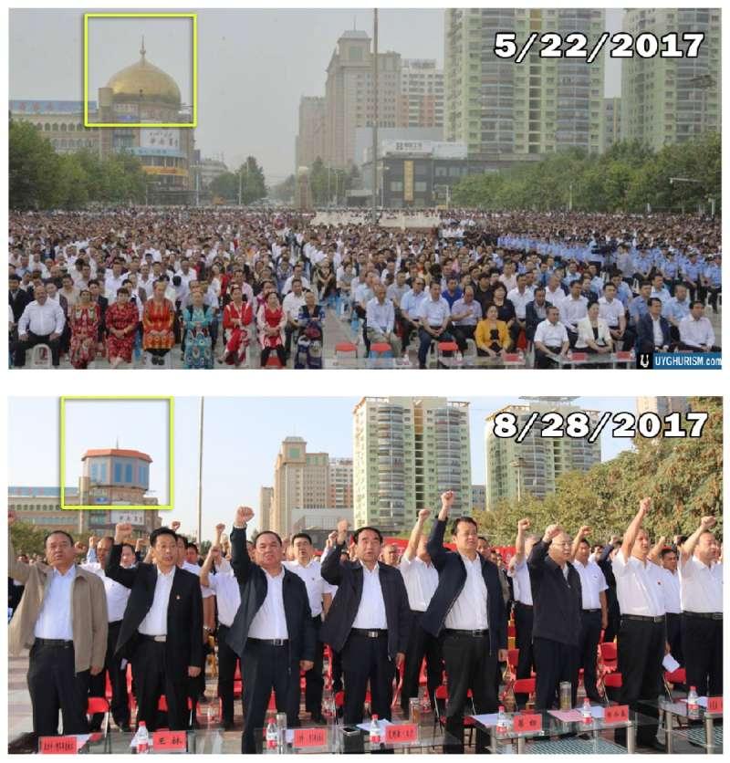 新疆地區的清真寺不斷遭到統治當局的破壞。(翻攝《摧毁信仰:對維吾爾清真寺的破壞與褻瀆》)