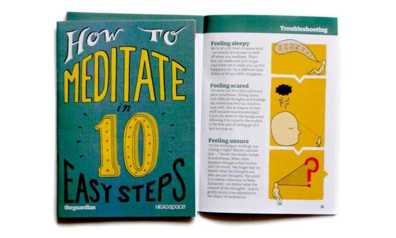 Headspace 為英國衛報設計的小冊子(圖/Cristina Guitian)