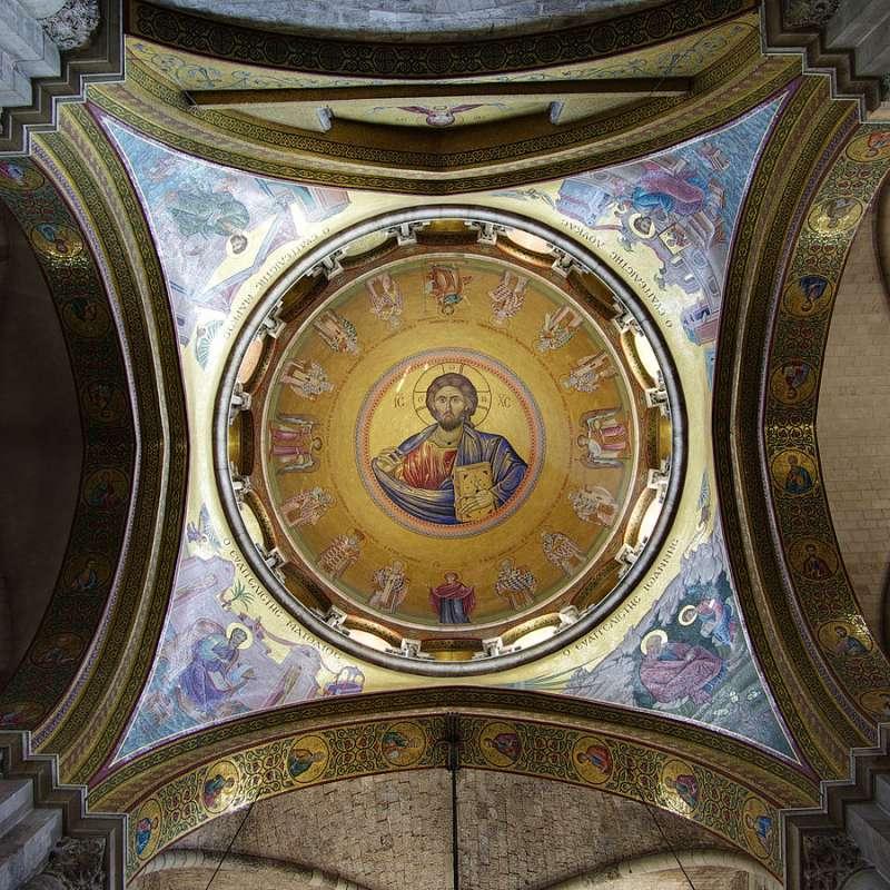 聖墓教堂內的耶穌聖像(Berthold Werner@Wikipedia/ CC BY 2.0)