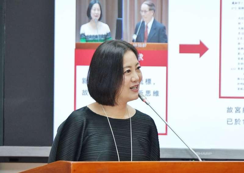 20191031-立委吳思瑤31日出席教育文化委員會質詢。(盧逸峰攝)