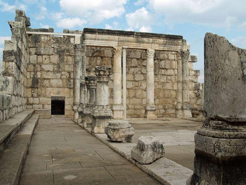 一個猶太會堂的遺跡,相傳這裏就是耶穌當年教導人的會堂。(David Shankbone @Wikipedia/ CC BY 3.0)
