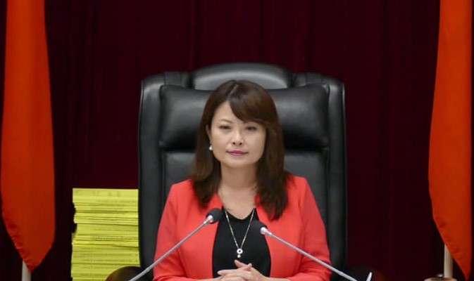 陳美雅在議會質詢時,批此言論羞辱、汙衊第六選區、高雄市民。(圖/翻攝自立委參選人陳美雅臉書)